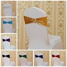 Gold Chair Sashes Online Shop Gold Colour Shiny Metallic Lycra Sash With Round