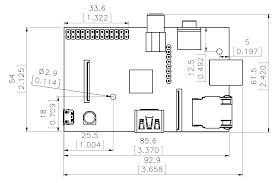 dimension of model b rev 2 mounting holes raspberry pi stack raspi com drawing of a raspberry pi model b