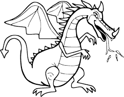 legendary dragon coloring pages for kids womanmate com
