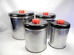 Kitchen Canisters Black Retro Kitchen Canister Set Super Funky Just Some Things