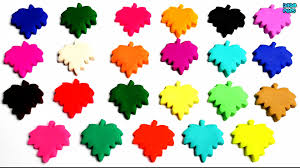 learn colors with play doh maple leaf name of countries flags