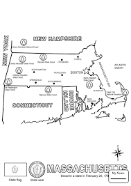 State Flag Of Massachusetts Coloring Pages Countries Cultures Massachusetts State Seal