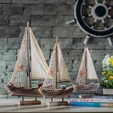 buy vintage wooden boat mediterranean style home accessories