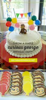 curious george birthday party simple curious george birthday party decor and the dog