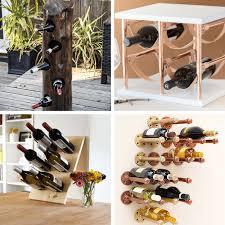 a roundup of 24 awesome diy wine racks home decor ideas