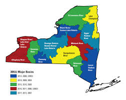 Map New York State by Usgs 305 B Groundwater Quality Monitoring Project Page