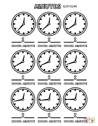 minutes 12 37 12 45 coloring page free printable coloring pages