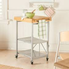 awe inspiring folding kitchen island cart with oak wood