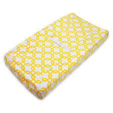 Changing Table Cover Rufus Golden Yellow Gotcha Chenille Contoured Changing