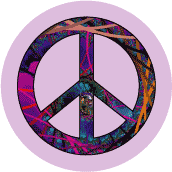 peace sign peace thrives on creative ideas poster