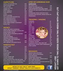 jcpenney hair salon prices 2015 sara salon price list salon project pinterest price list and
