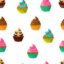 halloween cupcakes vector 10eps sweet cakes set with pumpkin eye