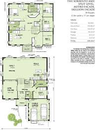 Sorrento Floor Plan Mk5 Split Level Metroskillion Facade Home Design Tullipan Homes