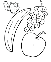 Fruit Coloring Pages For Preschoolers apple fruit coloring pages preschool fruits and vegetables apple