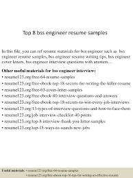 best engineering resume samples top8bssengineerresumesamples 150512023001 lva1 app6892 thumbnail 4 jpg cb 1431397844
