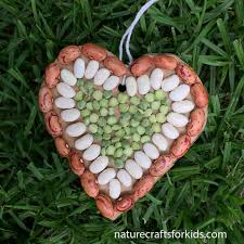 seed mosaic heart u2013 nature crafts for kids
