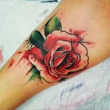 watercolor tattoo of flower rose tattoos design kmxwtattoo