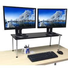 Stand Up Computer Desk Adjustable by Titan Monitor Stand Adjustable Standing Stand Up Desk Stand
