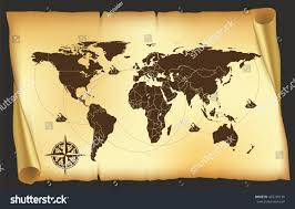 Pirates Map Map Old Map Pirates Map World Stock Vector 432745138 Shutterstock