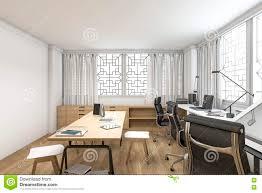 3d rendering loft wood style working room stock illustration