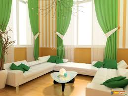 Brown And Green Curtains Designs Brown Stain Wall Featuring White Leather Comfy Sofa With Tufted