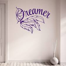 wall decals stickers home decor home furniture diy dreamer dream catcher teenagers bedroom living room vinyl wall sticker decal