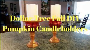 Pinterest Dollar Tree Crafts by Dollar Tree Fall Diy Pumpkin Candleholders Youtube Fall Ideas
