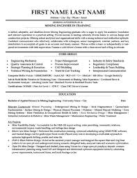 Sample Resume For Engineering Job by Download Mining Engineer Sample Resume Haadyaooverbayresort Com