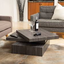 Carson Coffee Table Christopher Home Carson Rotating Wood Coffee Table