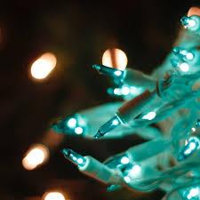 teal christmas lights for home and business