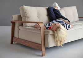 alto sofa bed with wood arms