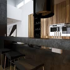 Black Kitchen Design Ideas Unique Kitchen Island With Stainless Countertops Gas Range Modern