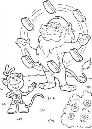 lion juggler dora explorer coloring animal coloring