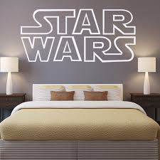 vinyl giant star wars starwars logo quotes bedroom wall stencil
