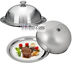 cloche cuisine food cover dome plate restaurant stainless steel cloche serving