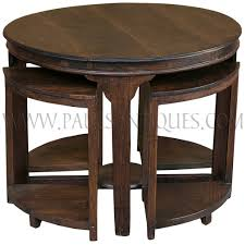 Small Side Tables by Round Burmese Teak Art Deco Center Table With Small Side Tables Stools