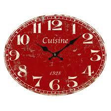 horloge murale cuisine originale horloge murale cuisine ovale pendule originale objets tendance