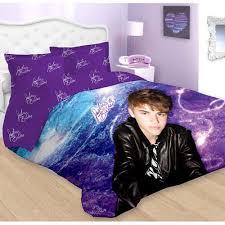 Comforter At Walmart Justin Bieber Concert Purple Twin Bed Comforter Sham Set Walmart Com