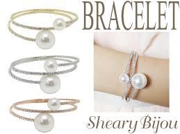 double pearl bracelet images Shearybijou rakuten global market double pearl x stone ring jpg