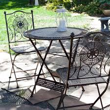 folding patio table with umbrella hole piece folding outdoor patio furniture bistro set in antiqued table