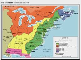 The Thirteen Colonies Map Honors American 1 Historical Maps Of The United States Of America