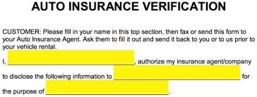 Rent Verification Letter Free Auto Insurance Verification Letter Pdf Word Eforms