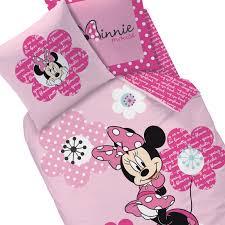 Chambre Enfant Minnie - housse de couette minnie parure de lit pink flowers decokids