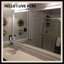 Frame A Bathroom Mirror With Molding by Bathroom Cabinets Molding For Mirror In Bathroom Molding For
