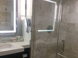 No privacy with these Clear shower doors otherwise beautiful