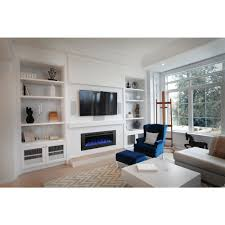 napoleon allure phantom 50 in wall mount electric fireplace with