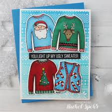 nichol spohr llc simon says stamp ugly christmas sweaters card