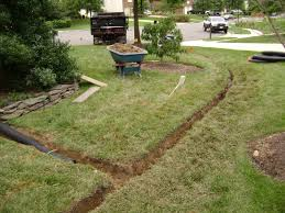 ideas build a french drain design ideas with green grass