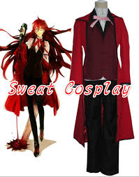 Black Butler Halloween Costumes Popular Costume Grell Buy Cheap Costume Grell Lots China