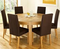 Dining Table Designs In Teak Wood With Glass Top Natural Polished Teak Wood Dining Table With Round Glass Top And